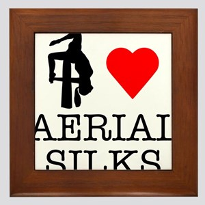 I Love Aerial Silks Framed Tile